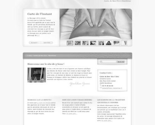 Site internet du centre de bien-être 5 sens de Montélimar