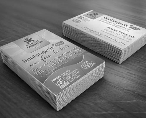Cartes de visite Pomme Cannelle - Création Stéphane Vendran