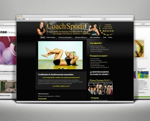 Création Site Internet - Coach Sportif Saou