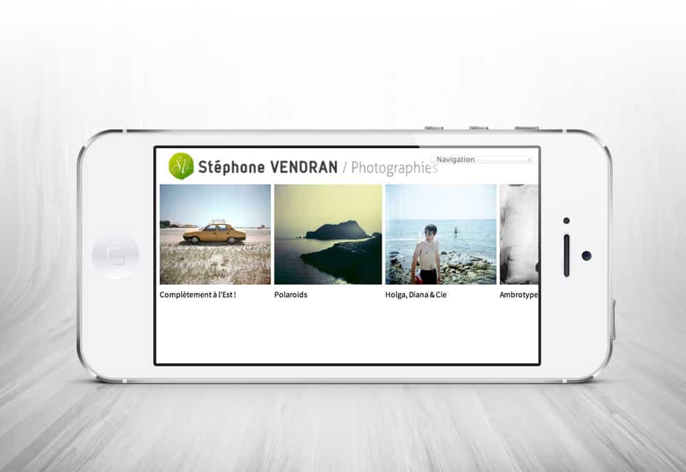 site responsive design stephane.vendran.com
